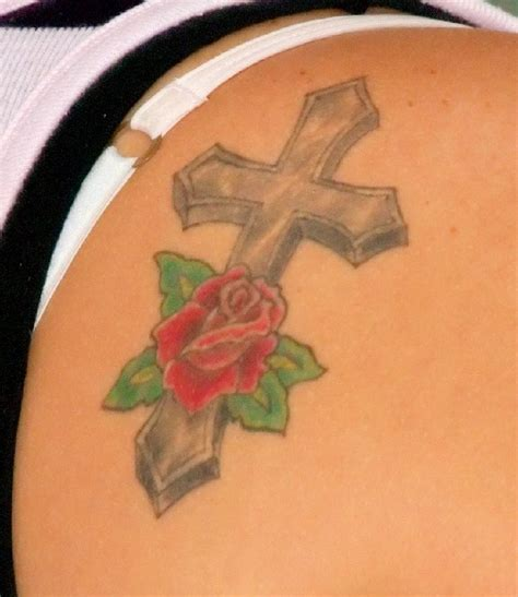 tattoo cross with roses rose with cross tattoo tattoo collection