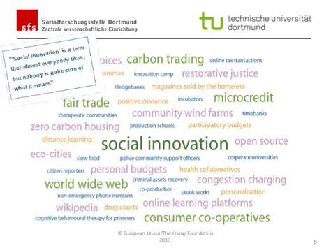 Essay On Institutionalising Innovation by Antonius Schr 246 Der Social Innovation In The Sector Tu Dortmun