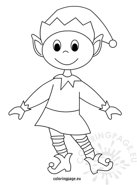 printable elf girl christmas elf printable coloring page