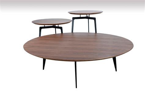modern walnut coffee table modrest jetson modern walnut coffee table set coffee