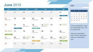 calendar powerpoint template slidemodel