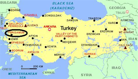 turkey archaeological sites map p 233 rgamo cidade grega infoescola