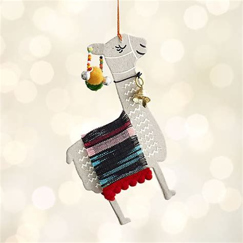 paper llama with stripe blanket ornament alpacas and
