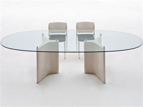 tavoli in vetro ovali tavolo ovale in legno e vetro tavolo ovale segis