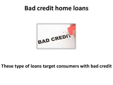 bad credit home loans and credit repair
