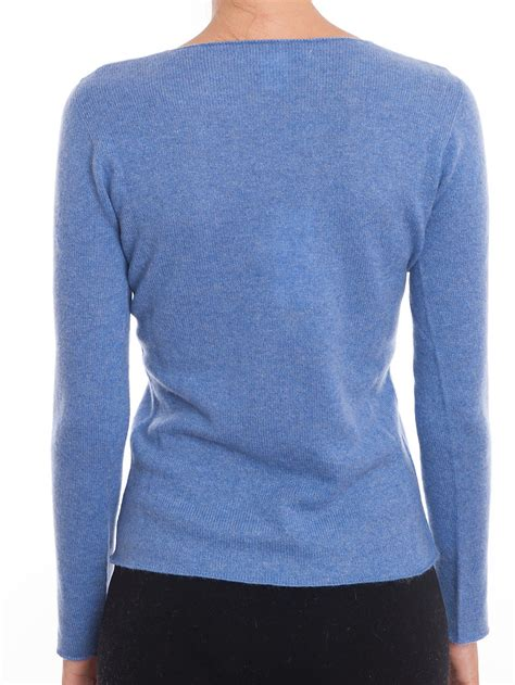 Sweater Cewek Murah Blue Sky v neck s sweater sky blue