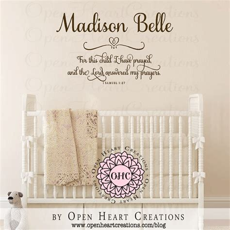 wall decals for nursery baby nursery decor prayed personalized baby name