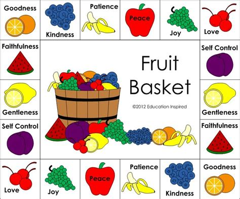 7 fruits of the spirit 39 best fruit of the spirit crafts images on