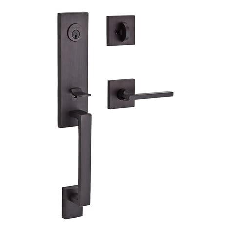 Entrance Handleset Exterior Door Hardware Baldwin Dcsea112 Venetian Bronze Seattle Keyed Entry Cylinder Handleset Handlesets