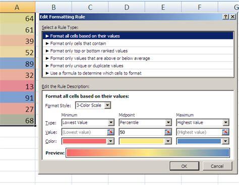 format excel java conditional formatting color scales java poi exle