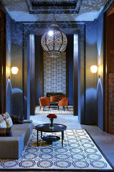 moroccan interiors royal blue the royal palm located within a common area