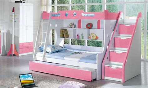 girl bunk beds with stairs loft beds with stairs for girls bedroom ideas pictures