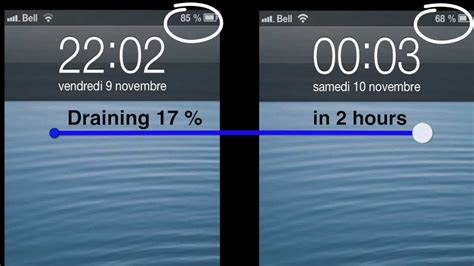 iphone  battery drains quickly youtube
