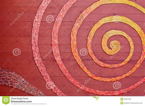 mosaic pattern spiral mosaic spiral on the wall stock photography image 20907562