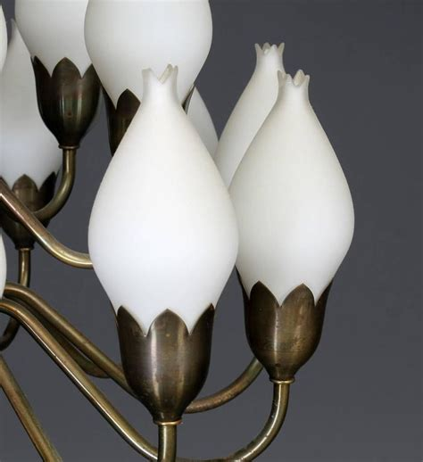 Tulip Chandelier Beautiful Large Chandelier By Fog And M 248 Rup With Glass Tulips For Sale At 1stdibs