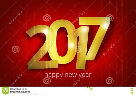 graphic design for new year 2017 bold font happy new year design stock illustration