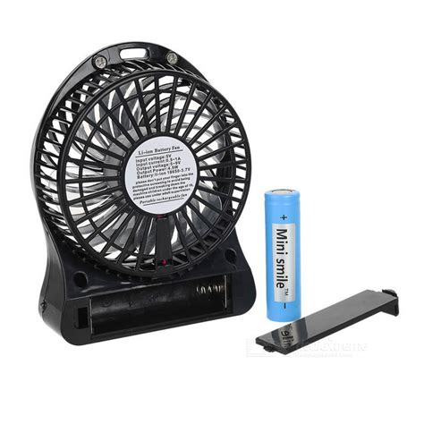 Battery Cell Handheld Cooling Fan 18650 Battery mini smile portable usb 4 blade 3 mode fan w 18650 battery black free shipping dealextreme