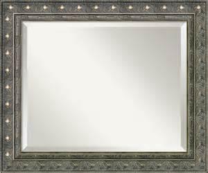 Bathroom Mirror Pewter Frame Barcelona Pewter Wall Mirror Medium Traditional