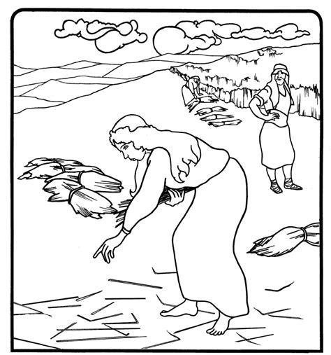 free bible coloring pages ruth 1000 images about bible ruth on maze