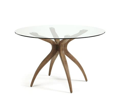 Glass Dining Table Uk Adelaide Glass And Walnut Dining Table Frances Hunt