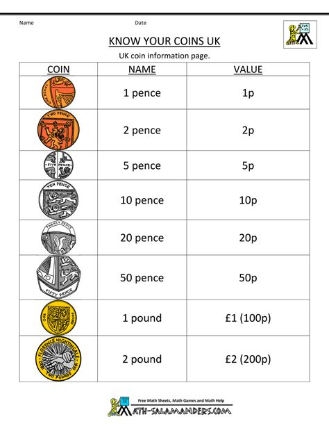 printable english money worksheets free counting money worksheets uk coins