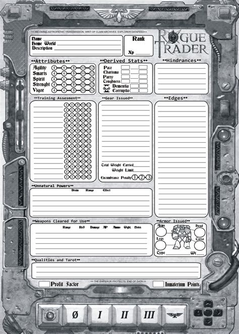 savage worlds weapon card template savagewords wh40k character sheets
