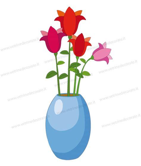 vaso tulipani vaso celeste con tulipani colorati