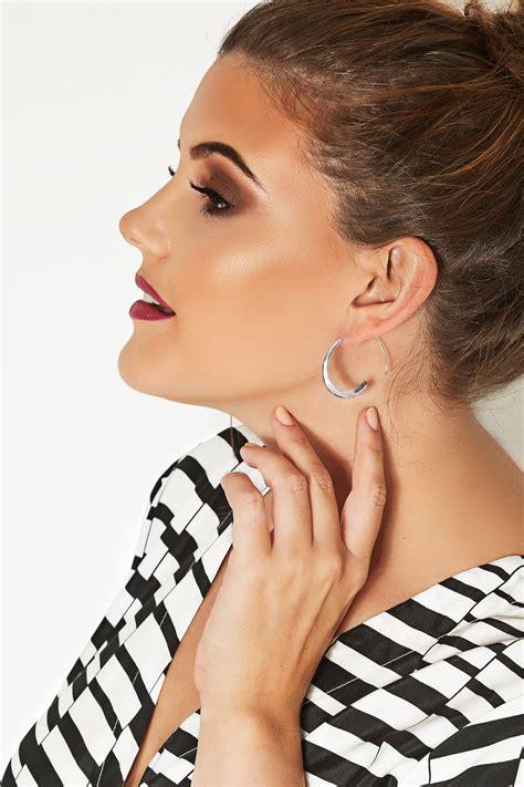 check my open silver open hoop earring