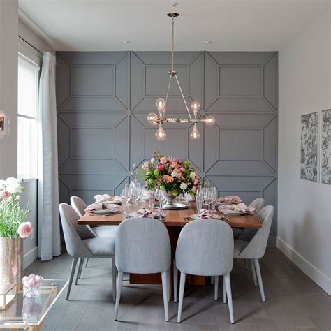 accent wall panel dining room contemporary with geometric 32 stylish dining room decor ideas to impress your guests