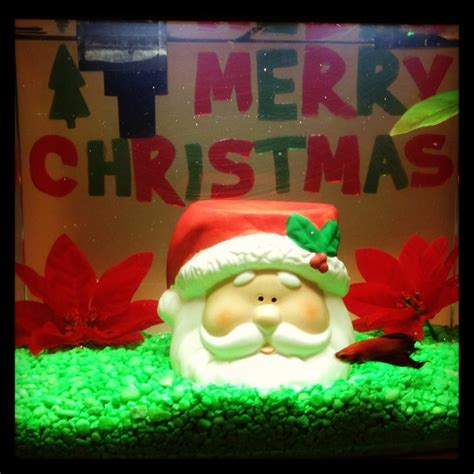 christmas decor for fish tank christmas pinterest