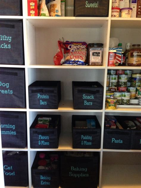 one organization pantry using thirty one quot your way quot cube and rectangle in
