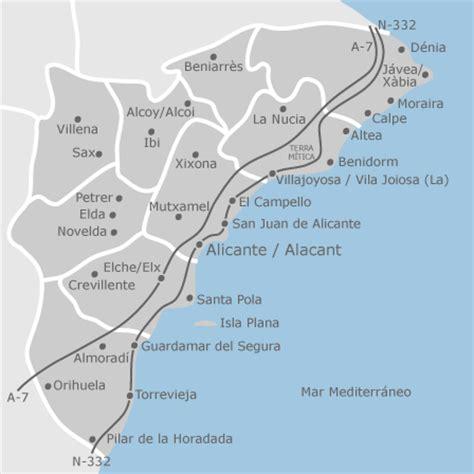 mapa de alicante provincia viviendas en alquiler idealista