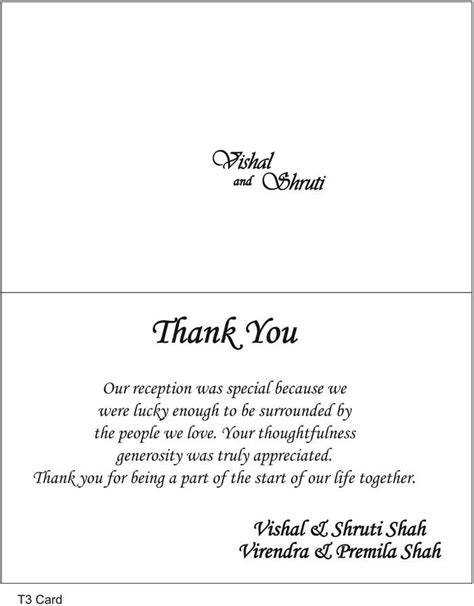 thank you notes for wedding gifts templates 1000 ideas about thank you card wording on