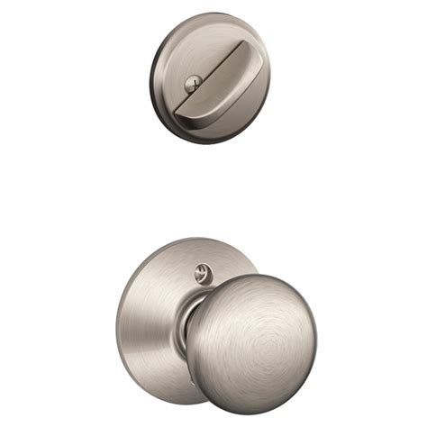 Schlage Plymouth Knob by Shop Schlage Plymouth 1 5 8 In To 1 3 4 In Satin Nickel