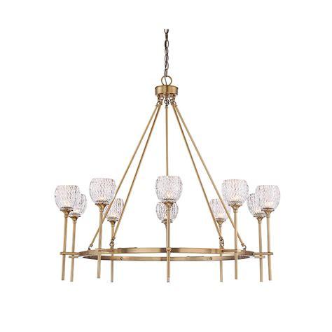 Filament Chandelier Filament Design 10 Light Warm Brass Chandelier Cli Sh267772 The Home Depot