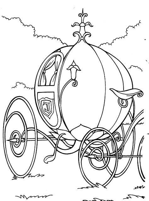 Cinderella Carriage Coloring Page the carriage coloring pages