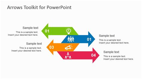 Multipurpose Arrow Toolkit For Powerpoint Slidemodel Arrow Powerpoint Template