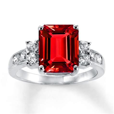 Ruby Ring by Lab Created Ruby Ring Lab Created Sapphires Sterling