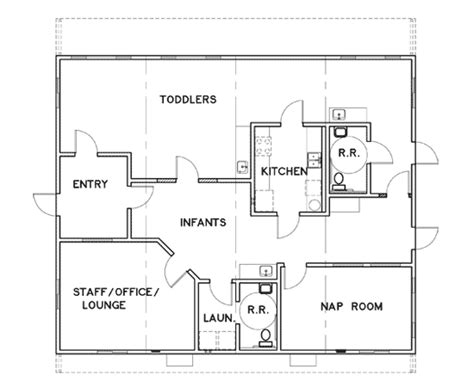 small daycare floor plans floor plan of kids world day care in sac city ia day care