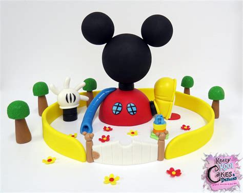 mickey mouse clubhouse cake topper set