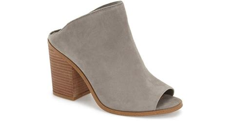 steve madden nolla suede mules in gray lyst
