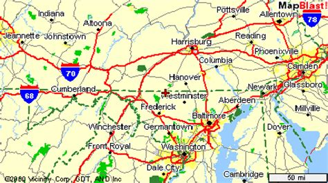 map maryland and pennsylvania map of pennsylvania and maryland