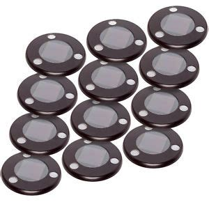 flat solar lights for driveway greenlighting solar flat in ground driveway light set 12