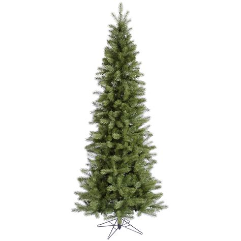 8 5 ft x 42 quot slim pencil spruce unlit mixed tips