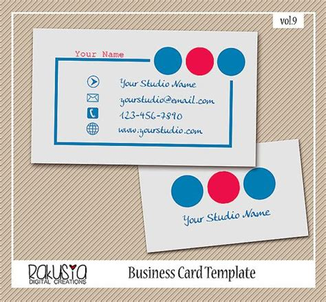 instant card downloads instant photography business card template for