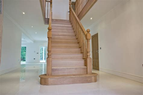 Oak Staircase Solid Oak Staircase With A Cut String Jtsstaircases