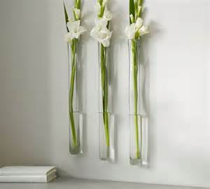 Glass Wall Vase Reed Wall Mount Recycled Glass Vase Pottery Barn