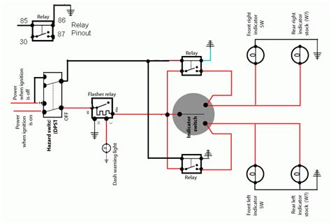 hazard flasher relay wiring diagram flasher relay ford