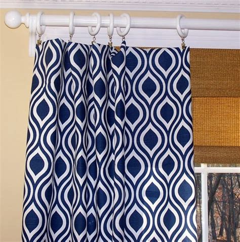 Navy Blue Drapery Panels New Modern Leaf Curtains Premier Fabric Navy Blue