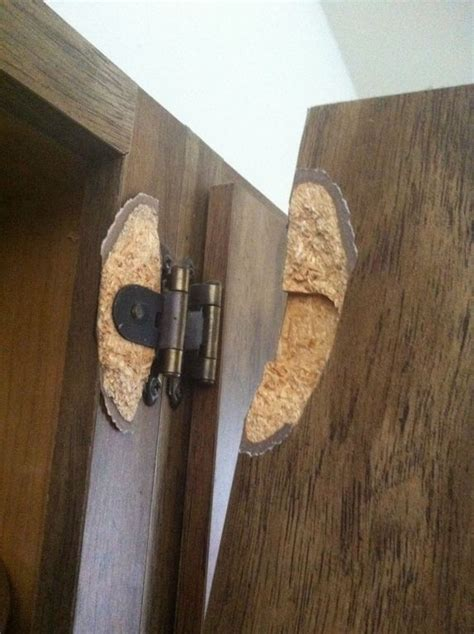 particle board cabinet doors repair is there any way to fix a hinge pulled out of particle board cabinet door home